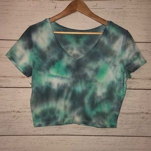 Wild Fable Tie-Dyed Crop Top - XL
